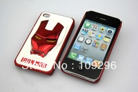 Fashionable 3D Iron Man SUPERHERO Hard Case Cover Skin For Apple iphone 4 4G     IMW