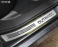 Free shipping SUBARU OUTBACK XV LEGACY aluminium alloy Scuff Plate / Door Sills threshold