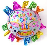 Free Shipping HappyBirthday Foil Balloons 10Pcs/Lot Birthday Party Decoration Helium Balloons Wholesale