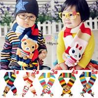 2014  winter lovely bear children kids scarfs boys girls animal fashion warm retail scarf KH068R