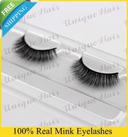 Free Shipping Natural looking hand made real siberisan mink fur eyelash extensions no.006 3pcs/lot 100% siberia mink fur eyelash