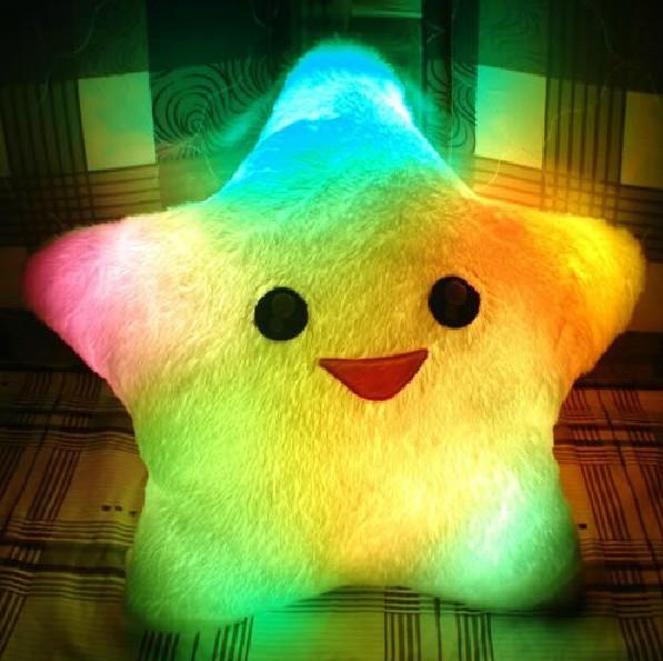 HOT Colorful LED luminous stars, LED light pillow, pillow, Christmas toys,(China (Mainland))