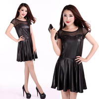 Perspectivity 2013 sexy gauze thin patchwork one-piece dress, free shipping