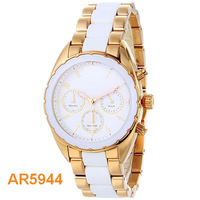 Original Women's Watches Quartz Watch AR5944 With Original Box ,Women's Chronograph Sport Ceramic Watch AR5944 Gents Wristwatch