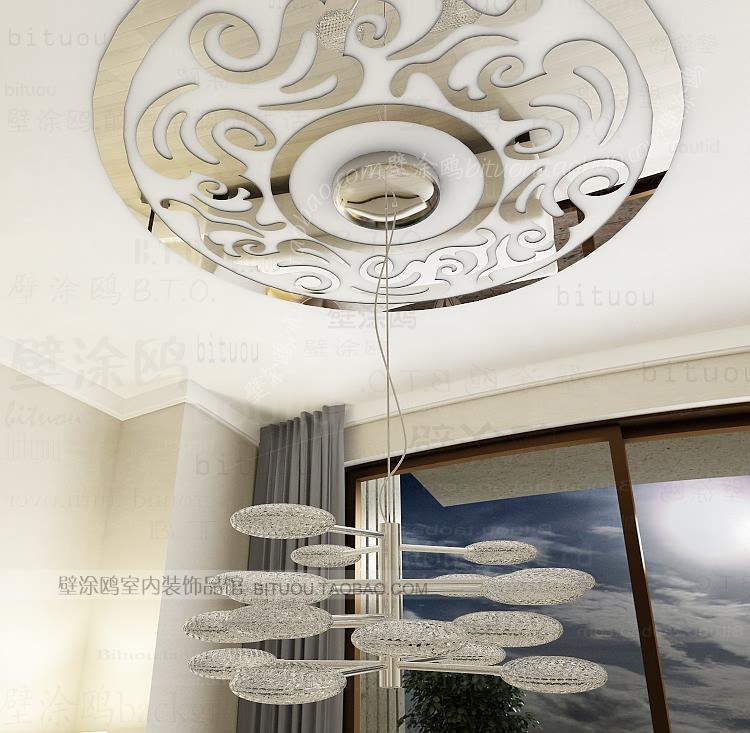 213DIY 3d vinyl acrylic mirror wall sticker home decor art