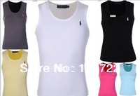 100% cotton sexy women stretch vest, free shipping T-shirts Tops Vests