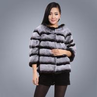 winter rex rabbit fur coat Women's fur 2013 autumn and winter hot-selling short design o-neck rabbit three quarter sleeve 602