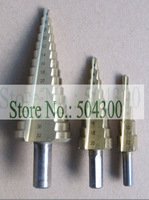 3 pcs/set Quality Titanium Coated HSS Step Drill Bit(Come without a box)