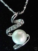 Beautiful White shell Pearl Necklace Pendant