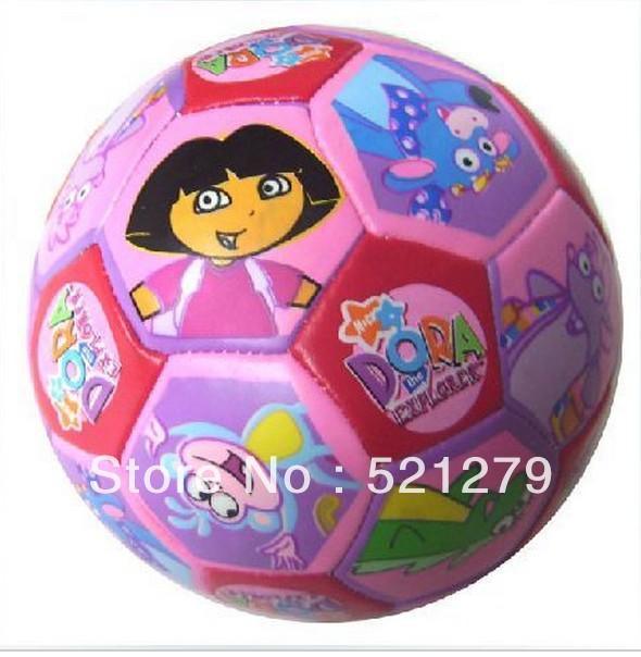 Free shipping 1pcs Dora the Explorer plush soft kids balls,the mini ball for baby,dora ball toys(China (Mainland))