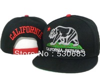 Hot sale California Republic Snapback hat men's top popular high quality sport baseball cap 7 style hip hop caps!Free shipping