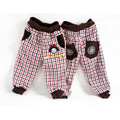 Children's clothing winter trousers female child trousers child plaid trousers preppy style plus velvet thickening trousers