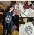 2013 New Fashion Women Winter Hoodies 2 Color Black and White Streetwear  Cool Warm Free Shipping