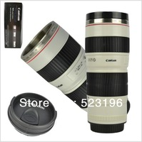 Free shipping by CPAM+Sillion+Stainless steel lens cup special lid caniam camera lens coffee mug Christmas present