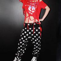 New fashion harem women hip hop pants dance costume jogging pants joggers Trousers Star print loose Casual sweatpants
