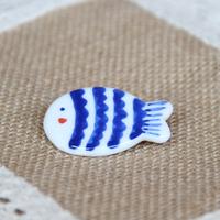 Porcelain meters ceramic pure blue bar sadly fat fish