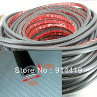 3 Metre Car door Rubber Trim Edge Seal Strip Black (D9mm)