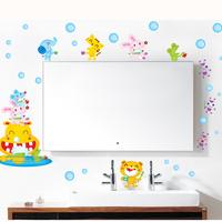 5set/lot Wholesale Blue Bubble Waterproof Bathroom Wall Stickers & Vinyl Bathroom Tile Stickers For Bathroom Wall Decoration