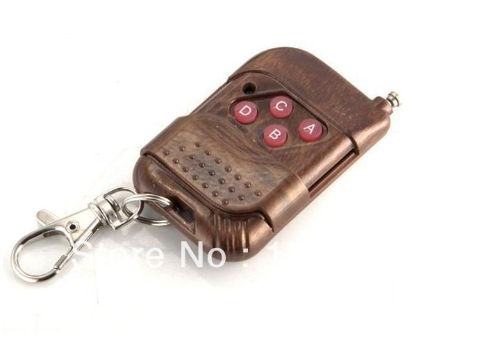 433 MHZ mahogany general wireless remote control (replication) face to face four buttons code ABCD(China (Mainland))