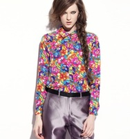 Floral Printed Women's Fashion Blouses and Shirts New Spring Autumn Woman Brand Blouse and Shirt Female Chiffon Tops