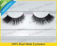 Free Shipping 3pcs/lot k014 100% real siberian mink fur false eyelash thick false mink lashes lashes eyelash extensions