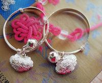 Handmade accessories national jewelry longevity lock silver bracelet child bracelet m025