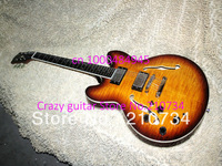 Wholesale - Left Hand Honey Burst ES335 Jazz Guitar High Quality Jazz Guitar Wholesale HOT