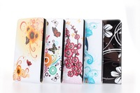 Lovely Luxury Flower Butterfly Flip Leather Cover Case For Sony for Xperia Z1 L39h