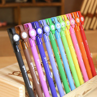 FREE SHIPPING Stationery Pen Multicolor  Pens Gel Pens  Ball Point Pen 12 Colors