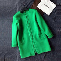 2013 fashion autumn and winter woolen outerwear female medium-long cashmere loose woolen overcoat