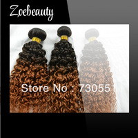 Wholesale Ombre Bundles Kinky Curly Hair Weave Cheap Curly Hair Brazilian kinky curly hair free shipping can mix length