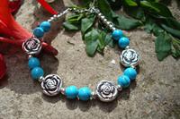 Trend bracelet handmade national miao silver jewelry female tibetan jewelry tibetan silver bracelet sl193