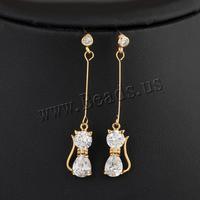 High Quality Fashion Fine Jewelry Drop Earrings for Women,18K gold Dangle Earrings with cubic zirconia, Fine Earings