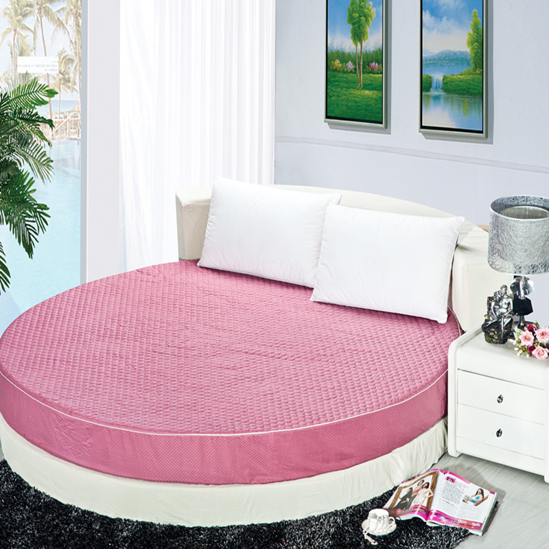 100% cotton bedding cotton round bed 2 meters 2.2 meters fitted thickening mattress cover piates round bedding pad is bedspread(China (Mainland))