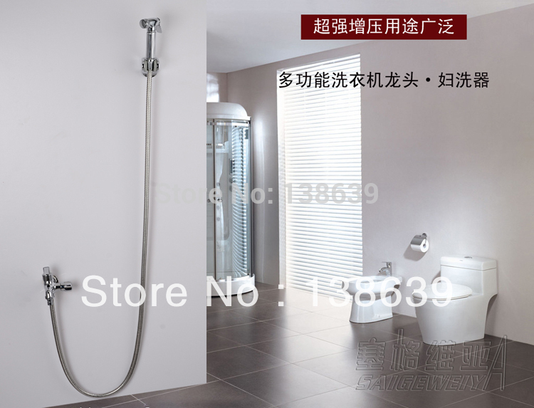 Brass bidet faucet set,bathtub bidet faucet faucet basin sanitary,cheap and bidet tap,washing butt,garden,toliet,Free shipping(China (Mainland))