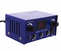 FREE SHIPPINGBlue LCD Digital DUAL machine TATTOO POWER SUPPLY