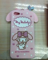 Fashion  mouse Hello Kitty sillion  Case + protective film  For Iphone 4 4S,  for  Free shipping