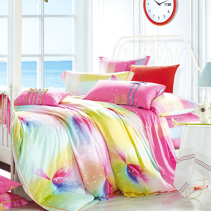 Quality home textile bedding pinioning silky tencel fabric pure plant fiber activity printed cloth(China (Mainland))