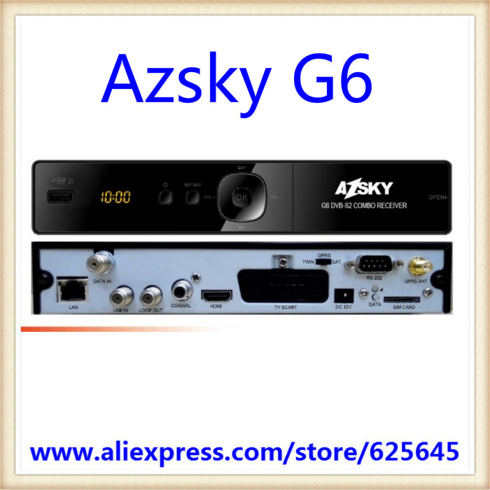 Wholesate price Azsky G6 dvb-s2 hd gprs combo receiver azsky gprs dongle/adapter/receiver Free shipping(China (Mainland))