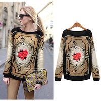 Free Shipping autumn winter beading vestidos beading plus xxxxl wool casual dress big size women clothes DM132068