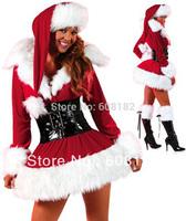 Dropshiping!  Hot  New  Free shipping 2013 Red Christmas Costume Fashion Women Santa Claus Costume sm88673