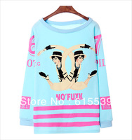 NO'FUXK CC Letter Sweatshirt Scrawl for Women 2013,Fake cc hoodie tops Loose Casual Pullovers Free Shiping