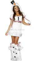Free shipping 2013 white Christmas Costume Fashion Women Santa Claus Costume sm88679