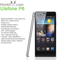 "6"" Mobile Phone Ulefone P6 MTK6589 Quad Core 1.6GHz Android 4.2 Dual SIM GPS Bluetooth 2GB RAM 32GB ROM 5MP/13MP 1080p FHD NFC"