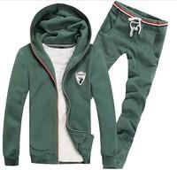 New arrival men sport suit fashion men hoodies suit sportswear tracksuit 4 colors M L XL XXL XXXL free shipping