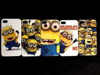5pcs/lots Despicable Me Minions Hard back white case cover for iphone 4 4G4S  +free shipping