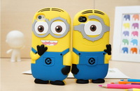 2013 New arrival soft rubber Despicable Me minions case for iphone 5/5s phone silicone cases covers free shipping