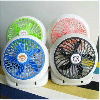 Battery dual usb mini electric fan small fan portable fan(China (Mainland))