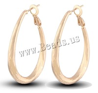 Free shipping!!!Brass Hoop Earring,2013 new summer, Teardrop, 18K gold plated, nickel, lead & cadmium free, 30mm, Sold By Pair