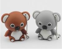 Free shipping New!Gray/brown lovely bear model usb memory flash stick pen drive Usb1